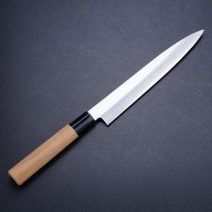 刺身包丁 210mm 日立安来鋼 青紙二号 桜柄 名入れ無料|honmamon