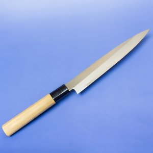 刺身包丁 240mm 日立安来鋼 青紙二号 桜柄 名入れ無料|honmamon