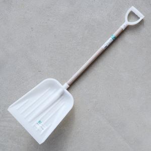 スコップ プラスチック 白 中 ショベル シャベル 雪かき 除雪|honmamon