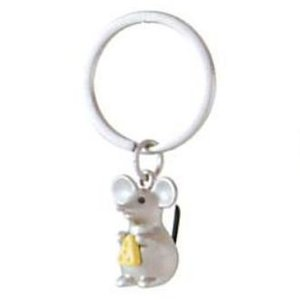 CUTE MOUSE with CHEESE KEYRING|hono-y