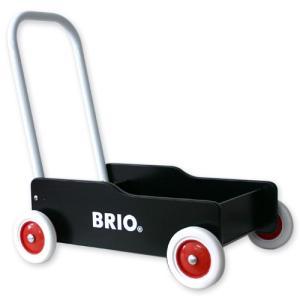 【ラッピング対応】BRIO(ブリオ) 手押し車(黒)|hono-y