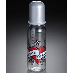 ROCK STAR BABY ボトル(哺乳瓶) ハート&ウィングL|hono-y