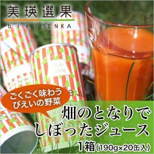 美瑛選果 畑のとなりでしぼったジュース(野菜ジュース)1箱 (20缶入り)|honpo-online