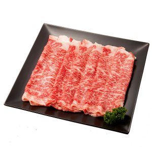 一般的にステーキ用として使用される高級部位のサーロインをすき焼用でお届け致します。   【ふらのすき...