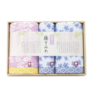 藤すみれ 木箱入り 今治産タオルセット/ (藤すみれ62330)|honpo-online