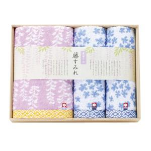 藤すみれ 木箱入り 今治産タオルセット/ (藤すみれ62350)|honpo-online