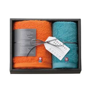 内祝い ギフト|カラフルデイズ タオルセット (オレンジ) (CL2515)|honpo-online