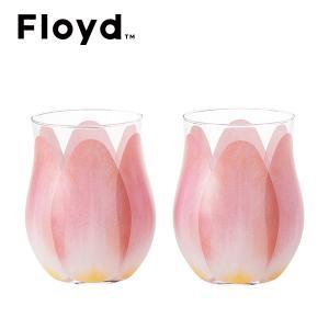 フロイド チューリップグラス2個セット (レッド) (FL11-00812)|honpo-online