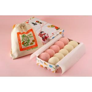 お誕生餅セット(紅白餅小分け リュック付き) 一升餅 紅白餅 背負い餅 北海道産もち米使用|honpo-online
