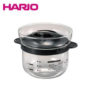HARIO ハリオ|ガラスのレンジご飯釜 1〜2合(XRCN-2-B)|レンジ 一人暮らし 自炊|honpo-online