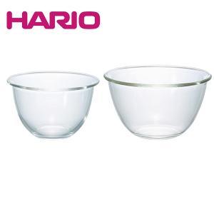 HARIO ハリオ|耐熱ガラス製ボウル2個セット(MXP-2606)|お菓子作り パン作り ガラスボウル ボール|honpo-online