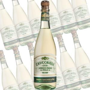 ランブルスコ ビアンコ ドルチェ/カビッキオーリ 750ml×12本 (スパークリングワイン) honpo-sakesen