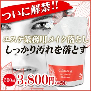 クレンジング(メイク落とし)500ml/リエナ for Professional|honpo3boshi