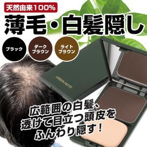 白髪隠し 薄毛隠し ヘアカラーファンデーション(ケース付き) グリーンノート ファンデーションタイプ|honpo3boshi