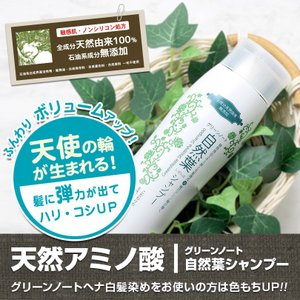 グリーンノート 自然葉シャンプー(無香料) 300ml ノンシリコン パラベンフリー|honpo3boshi