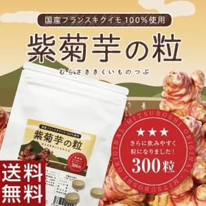 紫菊芋の粒300粒 【数量限定販売】 国産フランスキクイモ(アルティショ)サプリメント/粒剤 【送料無料】|honpo3boshi