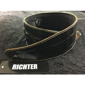 Richter Straps Beaver's Tail Croco Black 【NEW】【日本総本店ベースセンター 】|honten