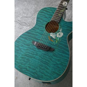 Luna Guitars Flora moonflower folk quilt map cust fbd [FLO MOON CTM]【送料無料】(ご予約受付中)|honten