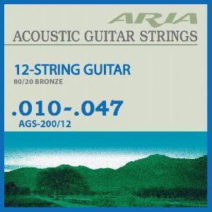 Ariapro II AGS-200/12 12String (10-47) (12弦アコースティックギター弦) (ネコポス) honten