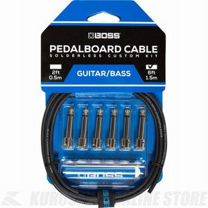 BOSS BCK-6 Pedalboard cable kit, 6connectors, 1.8m (パッチケーブル自作キット)|honten