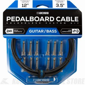 BOSS BCK-12 Pedalboard cable kit, 12connectors, 3.6m (パッチケーブル自作キット)(送料無料)(ご予約受付中)|honten