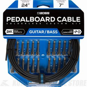 BOSS BCK-24 Pedalboard cable kit, 24connectors, 7.3m (パッチケーブル自作キット)(送料無料)|honten