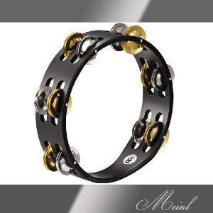 Meinl マイネル Compact Wood Tambourine 2rows Steel/Solid Brass [CTA2M-BK] 木製タンバリン|honten