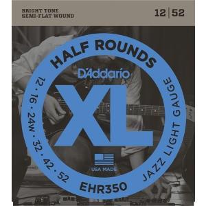 D'Addario EHR350 Half Rounds, Jazz Light, 12-52 (エレキギター弦) ダダリオ  (ネコポス) honten