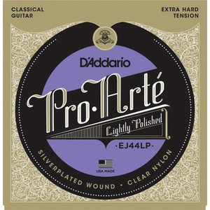 D'Addario EJ44LP Pro-Arte Lightly Polished Composite, Extra-Hard Tension(クラシックギター弦) (ネコポス)|honten