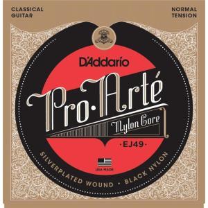D'Addario EJ49 Pro-Arte Black Nylon, Normal Tension(クラシックギター弦) (ネコポス) honten