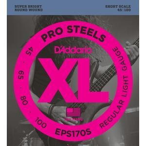 D'Addario EPS170S ProSteels Round Wound (ベース弦) ダダリオ  (ネコポス) honten