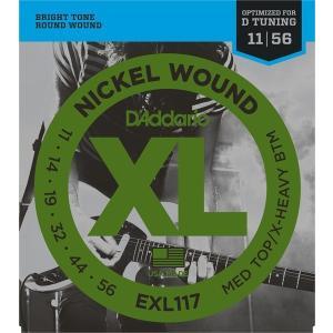 D'Addario EXL117 Nickel Wound, Medium Top/Extra-Heavy Bottom, 11-56 (エレキギター弦) ダダリオ  (ネコポス) honten
