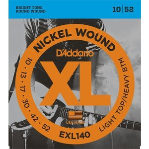 D'Addario EXL140 Nickel Wound, Light Top/Heavy Bottom, 10-52 (エレキギター弦) ダダリオ  (ネコポス)|honten