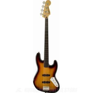 SQUIER Vintage Modified Jazz Bass Fretless, Ebonol Fingerboard, 3-Color Sunburst(ベース)(ご予約受付中)|honten