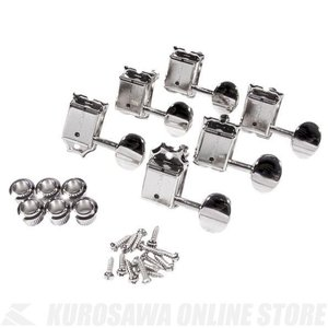 Fender Pure Vintage Guitar Tuning Machines (Left-Hand), Nickel/Chrome, (6個)(ギターパーツ/ペグ)|honten