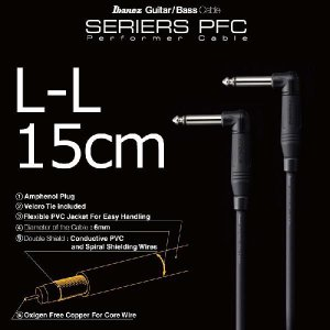 Ibanez Accessory Series PFC05LL Performer Cable (15cm/LL) (シールド)|honten