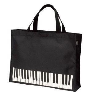 NAKANO レッスンバッグミニ 鍵盤ブラック BG-280/KB/BL (ピアノ柄)(バッグ)|honten