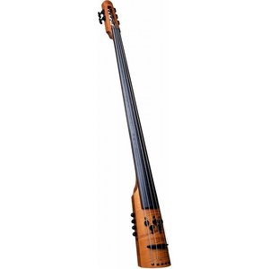 NS Design CR5M-AM CR Double Bass 5st?Amber EMG CR4 with EMG PU (エレキアップライトベース) (送料無料)|honten