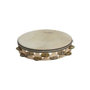 Tycoon Percussion Hand-Held Percussion Double Row Headed Wooden Tambourine - bright mixed 〔TBWH-D BS〕(タンバリン)|honten