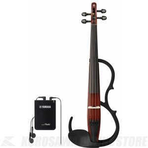 YAMAHA Silent Violin YSV104S BR 弓・ハードケース・松脂付きセット (サイレントバイオリン)(送料無料)(ご予約受付中)|honten