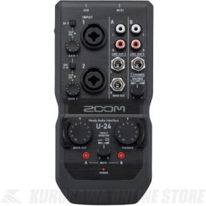 ZOOM Handy Audio Interface U-24 (ハンディオーディオインターフェース) (送料無料)(ご予約受付中)(マンスリープレゼント)|honten