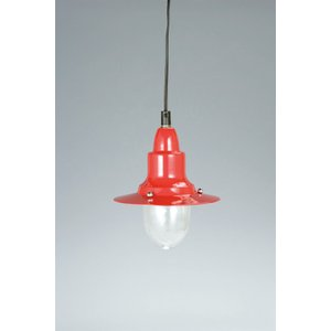 PENDANT LAMP W/GLASS  RED アルミペンダントランプ ウィズ グラスカバー レッド ダルトン 100-093RD (S:0240)|honyaclub