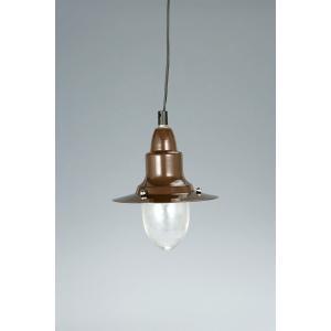 PENDANT LAMP W/GLASS  BROWN アルミペンダントランプ ウィズ グラスカバー ブラウン ダルトン 100-093BR (S:0240)|honyaclub