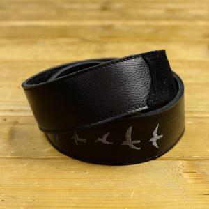 Paul Reed Smith ポールリードスミス ACC-3166 Premium Leather Strap Birds Emroidery Black ギターストラップ|hoochies