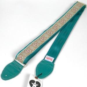 Souldier ソルジャー Souldier Original GS043T Medallion SAKURA / Turquoise ギターストラップ|hoochies