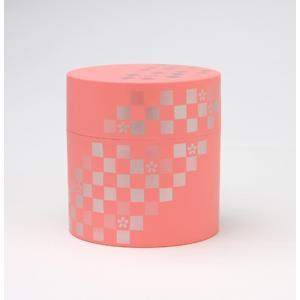 【在庫処分品】山中塗 日本伝統色 茶筒(桃花色)   日本製 081-0220   材質:ABS樹脂(ウレタン塗装)|hoonstore