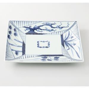 西海陶器  四君子  角大皿  19198  波佐見焼     材質:磁器|hoonstore