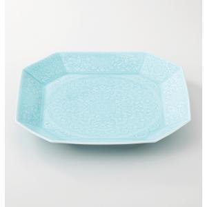 西海陶器  青白磁 八角大皿  19535  有田焼 材質:磁器|hoonstore