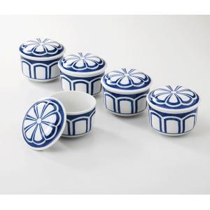 西海陶器  菊割  むし碗揃  50998 美濃焼 材質:磁器|hoonstore