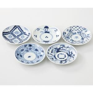西海陶器  染付紋  小皿5枚組  52799  波佐見焼     材質:磁器|hoonstore